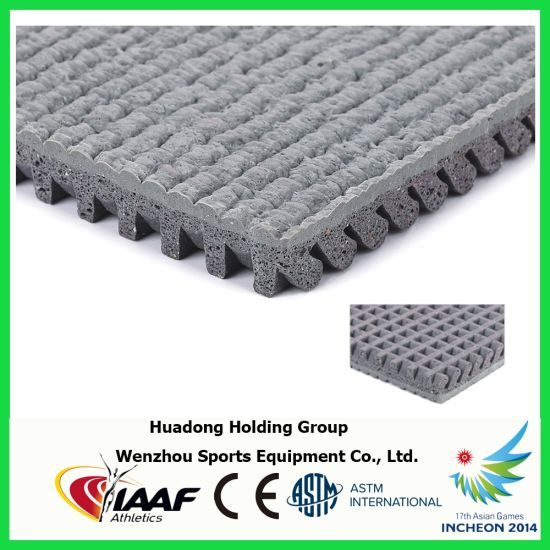 Iaaf Cheap Synthetic Rubber Flooring Material for Running Track pictures & photos