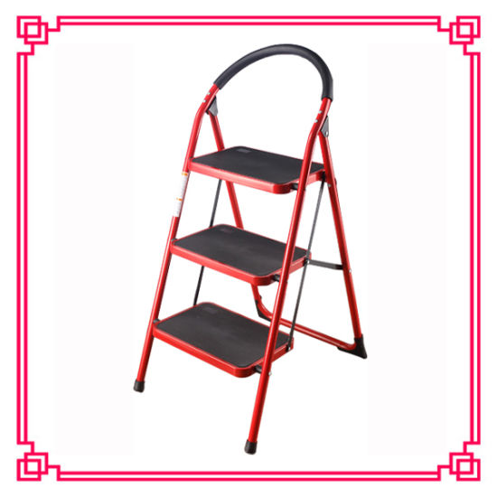 Supermarket Folded Easy Store Step Ladder pictures & photos