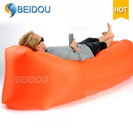 Air Lounge Sofa Bed Banana Camping Sleeping Beach Car Bed Inflatable Air Bed