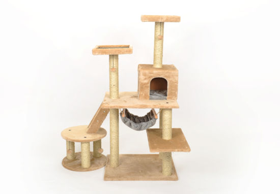 China Domestic Delivery Cat Toy Scratching Wood Climbing Tree Cat ...