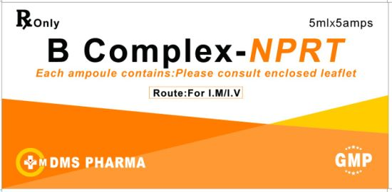 B Complex Injection: Niacinamide Pyridoxine Rioboflavin and Thiamine Injection