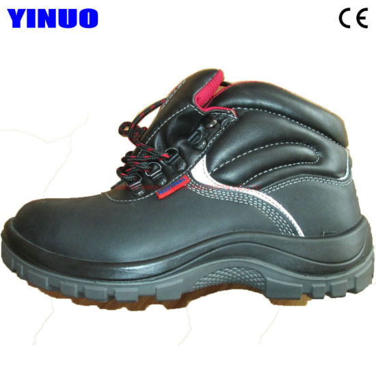 Genuine Leather Steel Toe Waterproof Mining Construction Industrial Safety Shoes