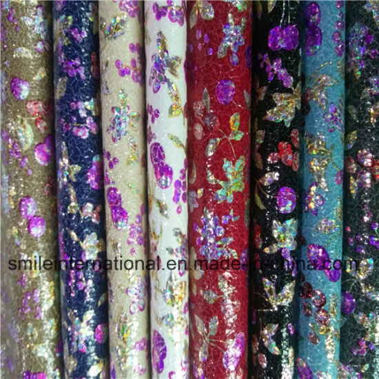 /PU Digital Printing Artificial Flower Leather pictures & photos