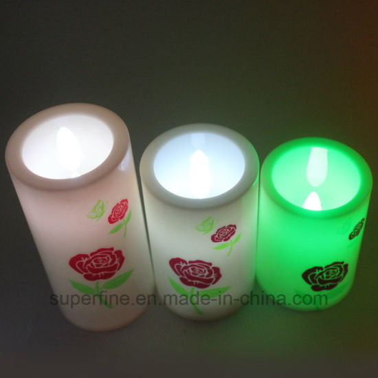 Electric Flameless Christmas Decorative Led Plastic Candle With Timer Function
