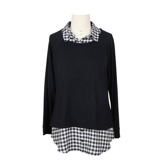 Wholesale Customized Design 100% Cotton Fashion Womens Printed/Plain Tops Blouses
