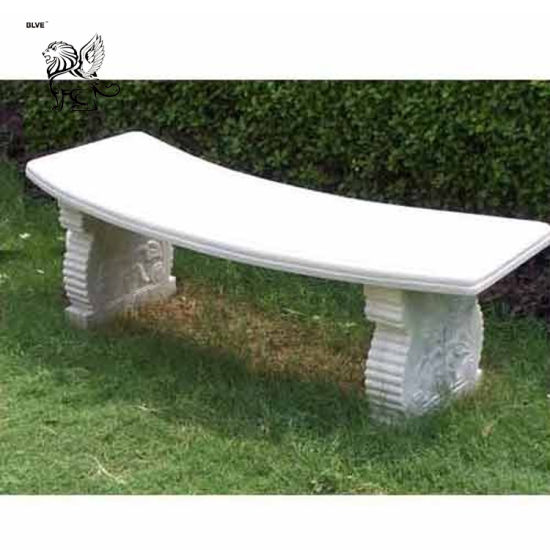 Factory Price Outdoor Decoration Carved Marble Bench Marble Furniture Mbc-04 pictures & photos