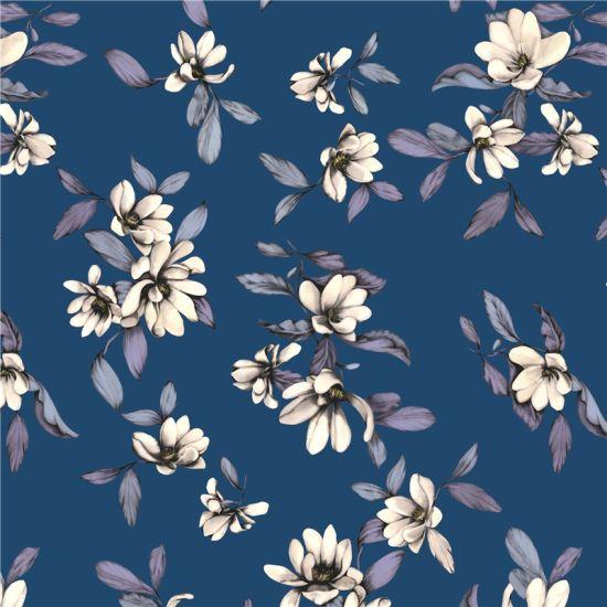 China Custom Design Digital Printed Silk Fabric Xf 0011 China