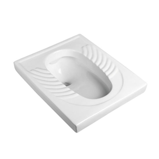 Amg1204 Squat Closet Pan Rectangular Ceramic Toilets