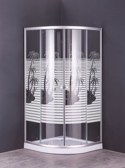 Factory Direct Sales New Design Shower Enclosure with Printing Glass
