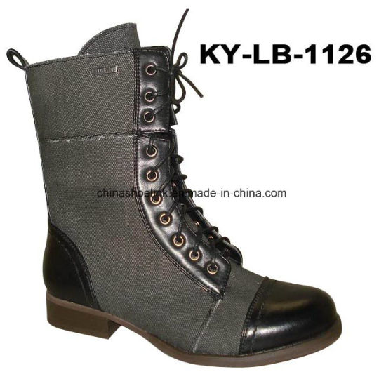Popular China Lady Casual Boots with Flat Sole - China Work Boot ... 3e3caae9d4