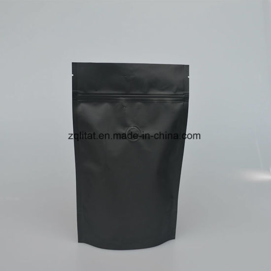 Customzied Stand up Zipper Plastic Pouch for Coffee Bean with Window pictures & photos
