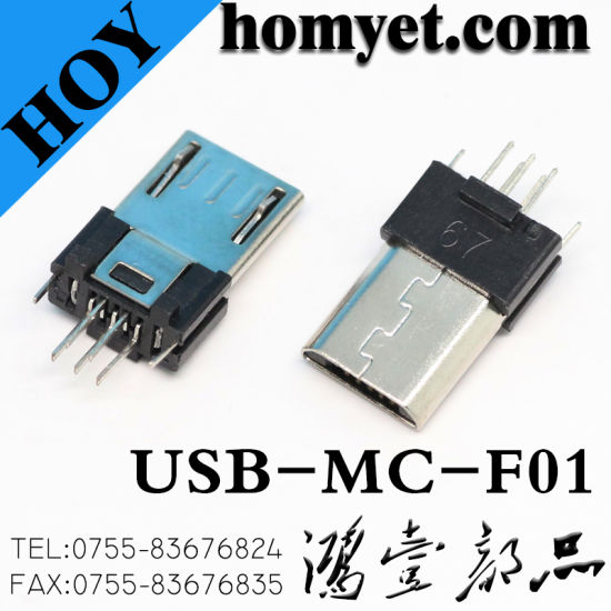 High Quality 5 Pin Micro USB Connector with Black Color for Samsung Mobile Cable pictures & photos