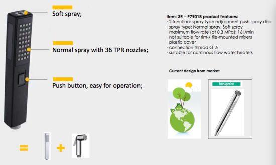 Matte Black Multi-Function Hand Shower Water Matter Bidet Sanitary Ware
