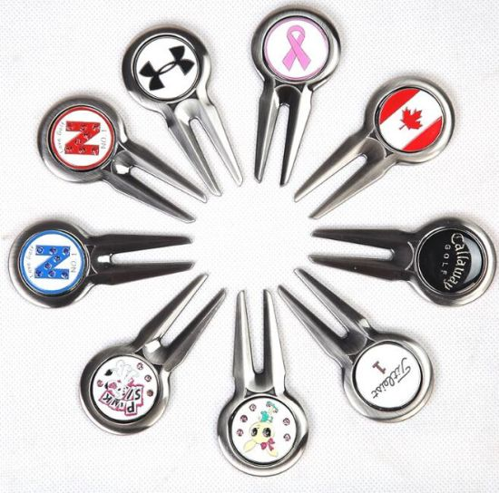 Customized Magnetic Metal Golf Fork pictures & photos