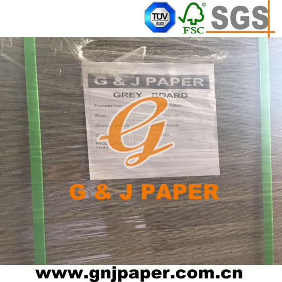 Anti-Curl Uncoated Single Gray Paper Board in Pallet Packing pictures & photos