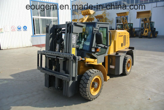 Rough Terrain Forklift 3.5 Ton Capacity Forklift pictures & photos