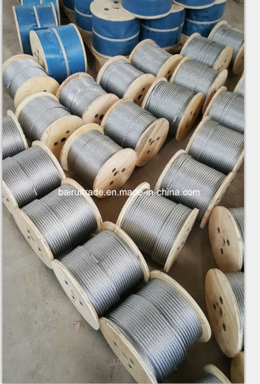 6mm Hot DIP Galvanized Steel Wire Rope for Export pictures & photos
