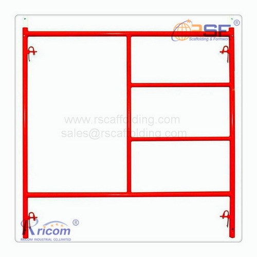 Red Painting Ladder Frame system Scaffolding