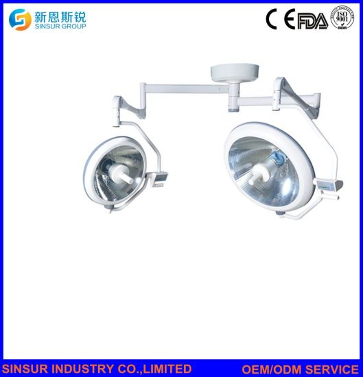 Hospital Equipment Cold Light 2heads Shadowless Ceiling-Type Medical Operating Lamp