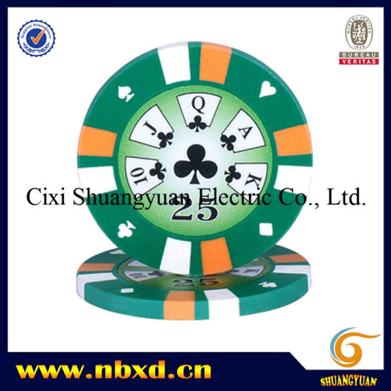 14G 3-Tone Clay Poker Chip with Custom Stickers (SY-E15) pictures & photos