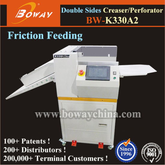 K330A2 Digital Manual Feeding Double Sided Paper Creaser and Perforator Machine