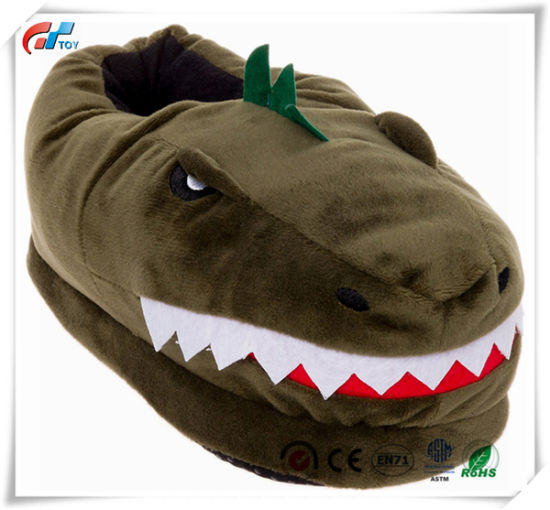 Plush T-Rex Slippers Memory Foam Support by Dinosaur Slippers