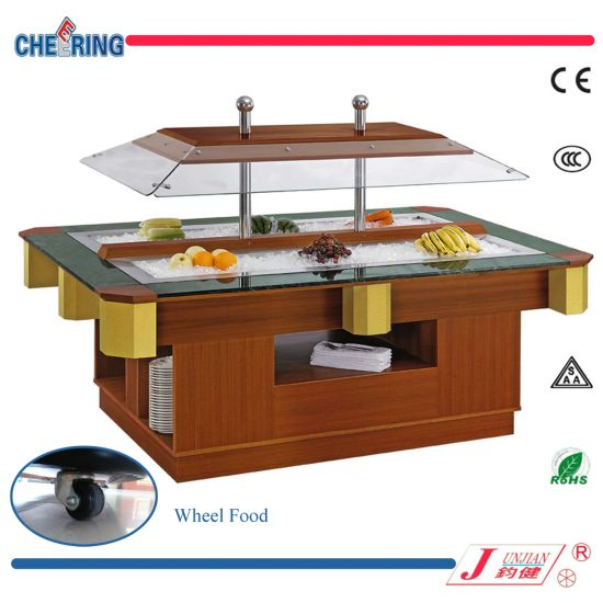Oblong Shape Salad Bar with Stainless Steel or Colour Steel pictures & photos