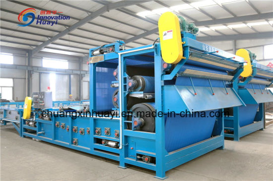 Belt Type Filter Press for Sewage Sludge Dewatering pictures & photos