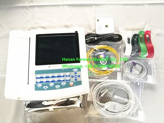 3 Channels ECG Machine Electrocardiograph Machine with Ce pictures & photos