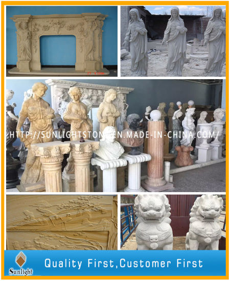 White/Beige/Gold Marble Statue/Sculpture, Stone Carving pictures & photos