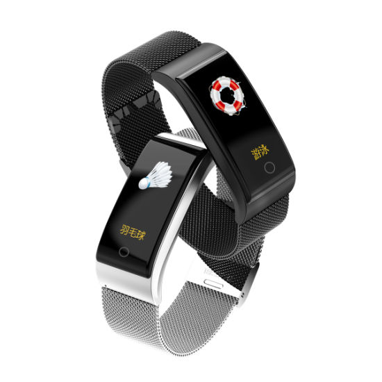 Mesh Band Smart Bracelet with Blood Pressure/Heart Rate/Sleep Monitor  Sports Fitness Tracker for Ios Android Smartphone