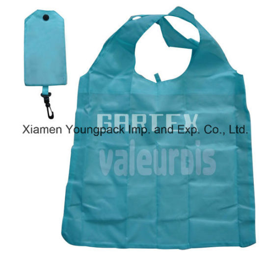 e21c1c74602 Promotional Custom Printed Reusable Nylon Foldable Shopping Tote Bag Into  Pouch pictures   photos