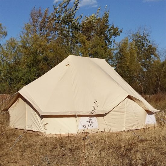 6X4m Bell Tent Gl&ing Cotton Canvas Emperor Tent & China 6X4m Bell Tent Glamping Cotton Canvas Emperor Tent - China ...