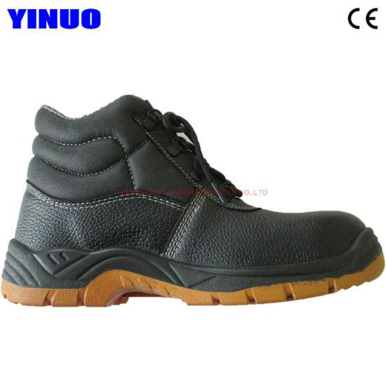 Genuine Leather Steel Toe Mining Construction Safety Work Footwear