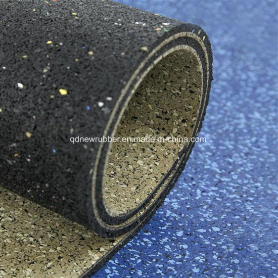 Anti-Slip Gym Crossfit Fitness Rubber EPDM Roll Flooring Mat pictures & photos