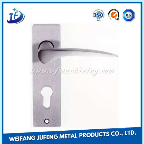 Zinc Alloy Stamping Handles with Lock for Wooden/Galss Door pictures & photos