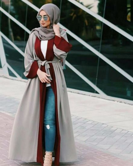 780481344d8 Muslim Women Abaya Jilbab Loose Cardigan Style Maxi Dress Dubai Middle East  Islamic Arab Moroccan Robe Clothes During Ramadan