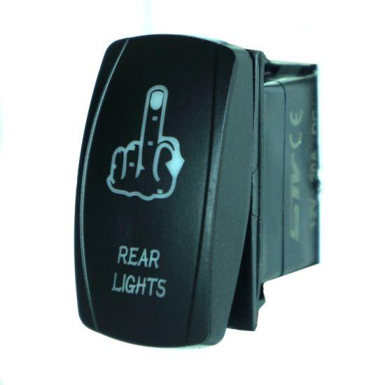China Laser Blue Rocker Switch Finger Rear Lights 20a Onoff Led