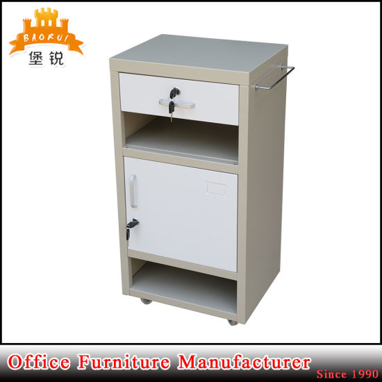 High Quality Moveable Medical ABS Steel Bedside Locker Jas-109 pictures & photos