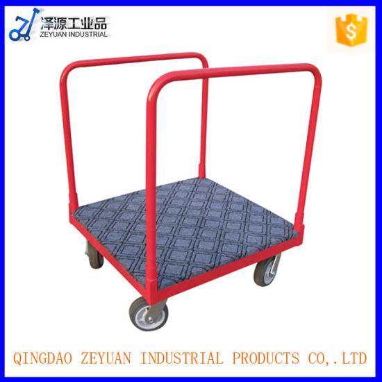 Four Wheel Platform Hand Truck Carpet Moving Dolly Tool Cart pictures & photos