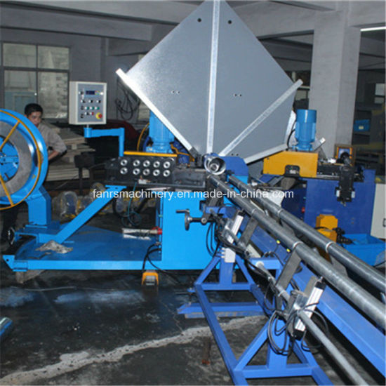 Galvanized Steel Spiral Tube Forming Machine Mitsubishi PLC