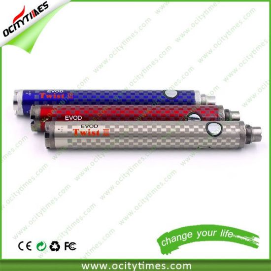 Ocitytimes E Cig Evod Twist 3 Battery / Evod Twist II/ 1600mAh Evod Twist 2 in Stock pictures & photos