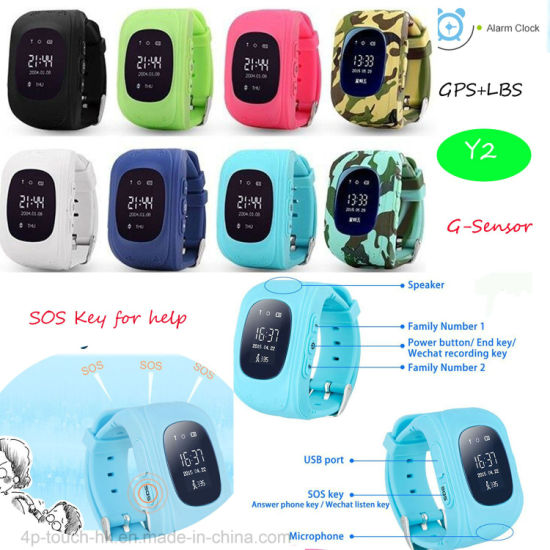 China Kids GPS Watch Tracker with Sos Button and Geo-Fence