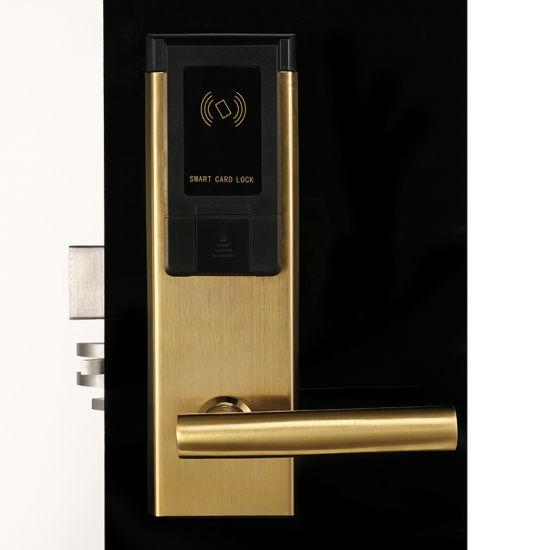 Stainless Steel Electronic Door Lock Hotel System RFID Card Door Lock