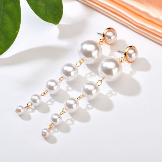 e2d07d451f747 China Trendy Elegant Created Big Simulated Pearl Long Earrings ...