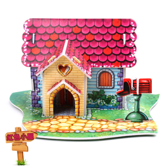 3D Stereo Puzzle Children′s Puzzle Toys DIY Handmade Paper House Model for  Boys and Girls Aged 3-6-8 in Kindergartens 011