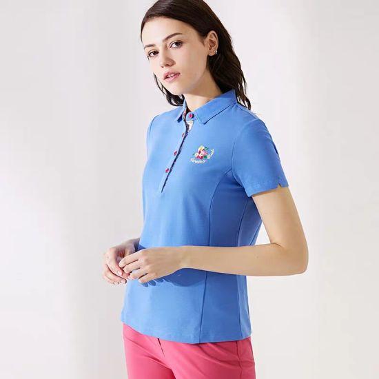 Wholesale Clothing New Design Women Custom Sports Golf Gym Plain Polo T Shirt
