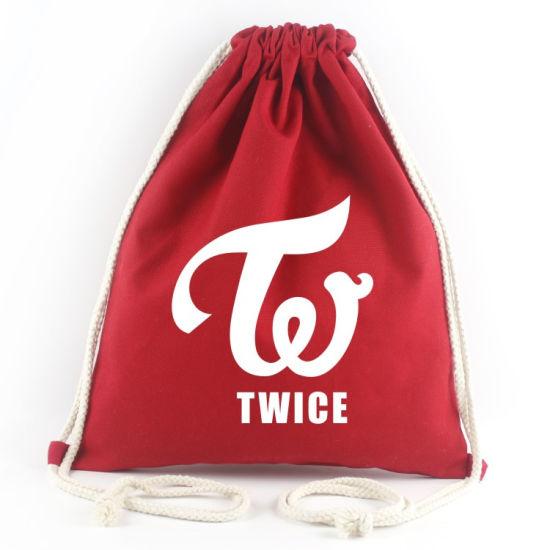 3245cd432ea3 Wholesale Custom Logo Eco-Friendly Cotton Canvas Drawstring Backpack, 100%  Cotton Drawstring Bag