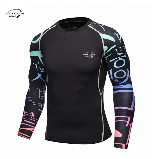 Cody Lundin OEM Wholesale Top Quality Long Sleeve Workout Quick Dry 1/4 Zip Gym T Shirts for Men