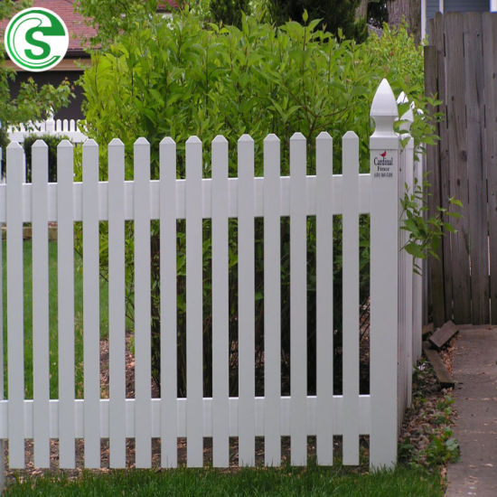 China Supply PVC Picket Plastic Protective Lawn Edging Fence